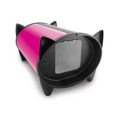 KatKabin DezRez Outdoor Cat House - Hot Pink