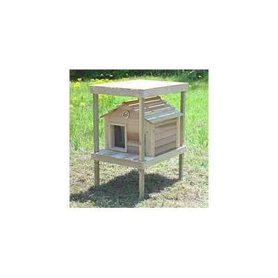 20 Inch Cedar Cat House with Platform, Loft