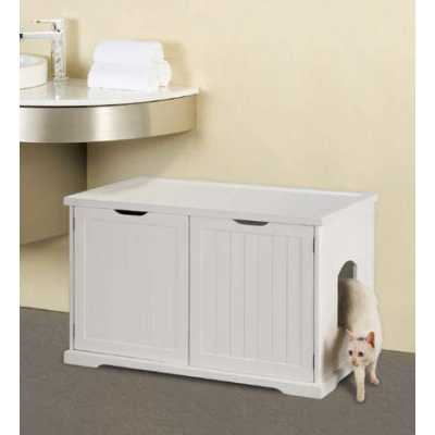 Cat Washroom Bench for Large and Electronic Litter Boxes MPS010