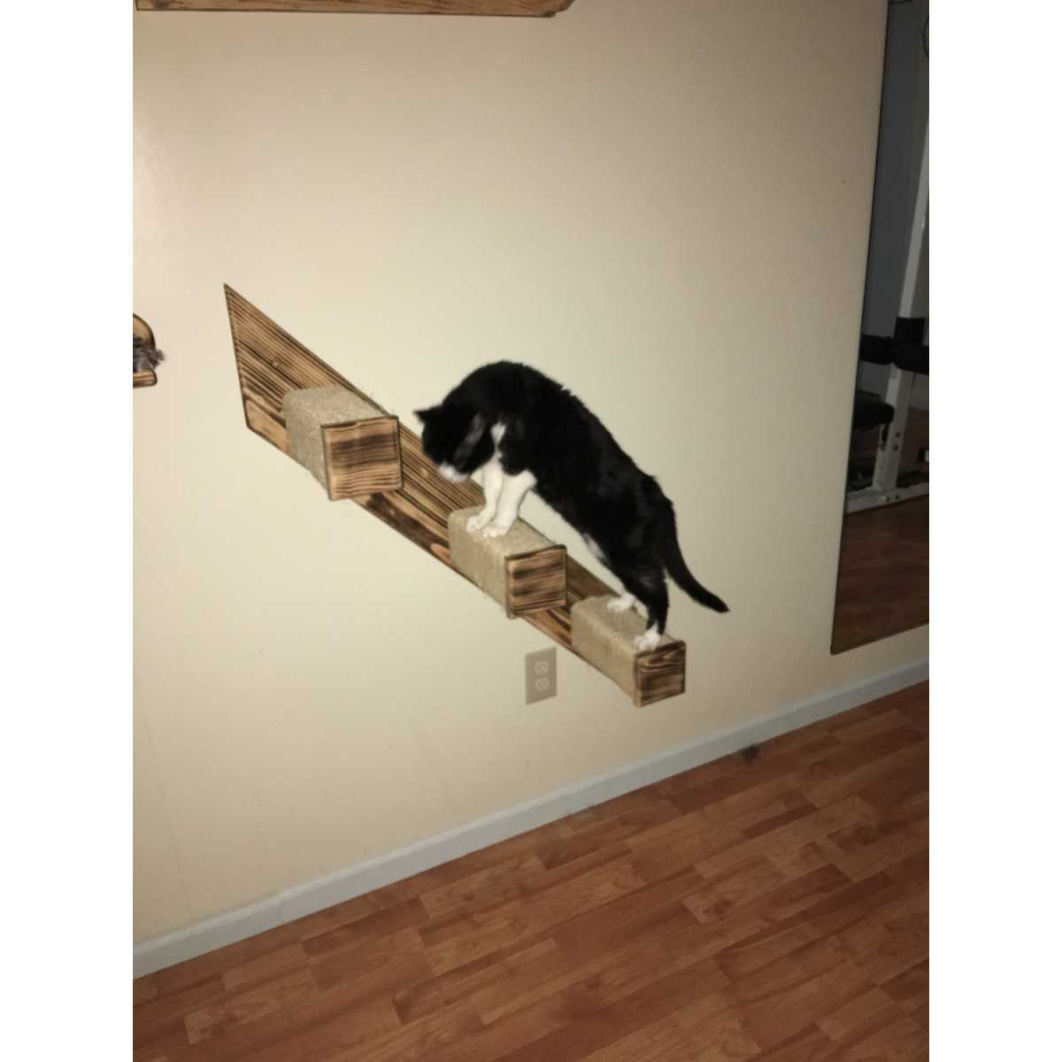 3 Step Sisal Stair Wall Mounted Cat Climber Catsplay