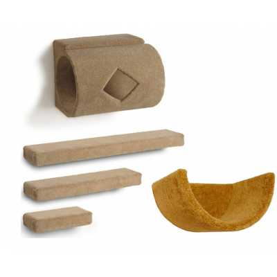 Tube + 3 Ramps + Wall Cup Cat Wall Climbing Package Image
