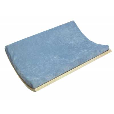 Curve Wall Cat Bed - Walnut/Blue Image