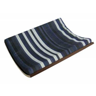 Curve Wall Cat Bed - Walnut/Stripe Image