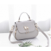Bowler Style PU Leather Ladies Handbag with Gold Cat Hardware