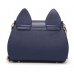 Womens PU Leather Cat Ears Handbag with Jeweled Butterfly Accent