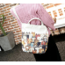 Canvas Tote Bag with Many Cats Design