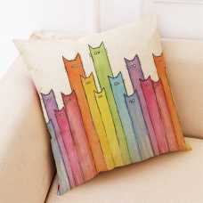 Decorative Cat Themed Cushion Cover - Tall Cats