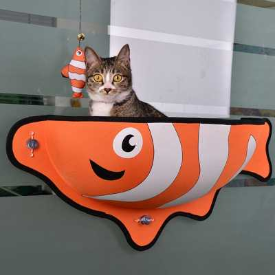 Fish Themed Cat Window Lounge Bed Image