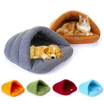 Comfy Pet Slipper Cave Bed Image