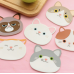 Silicone Cat Face Coasters - Set of 4