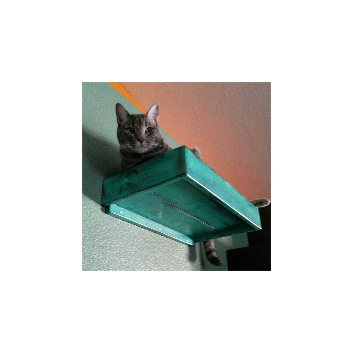 Artisan Made 2 Floating Cat Wall Stairs 1 Floating