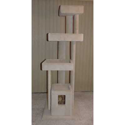 P&P Tall Super Sleeper with Cube Cat Tree