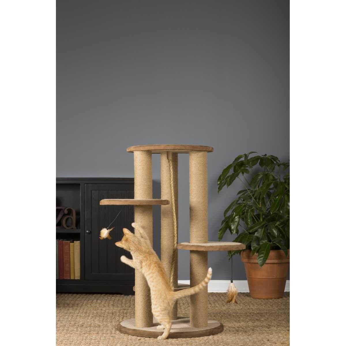 37 inch Multi Level Cat Tree Scratching Post