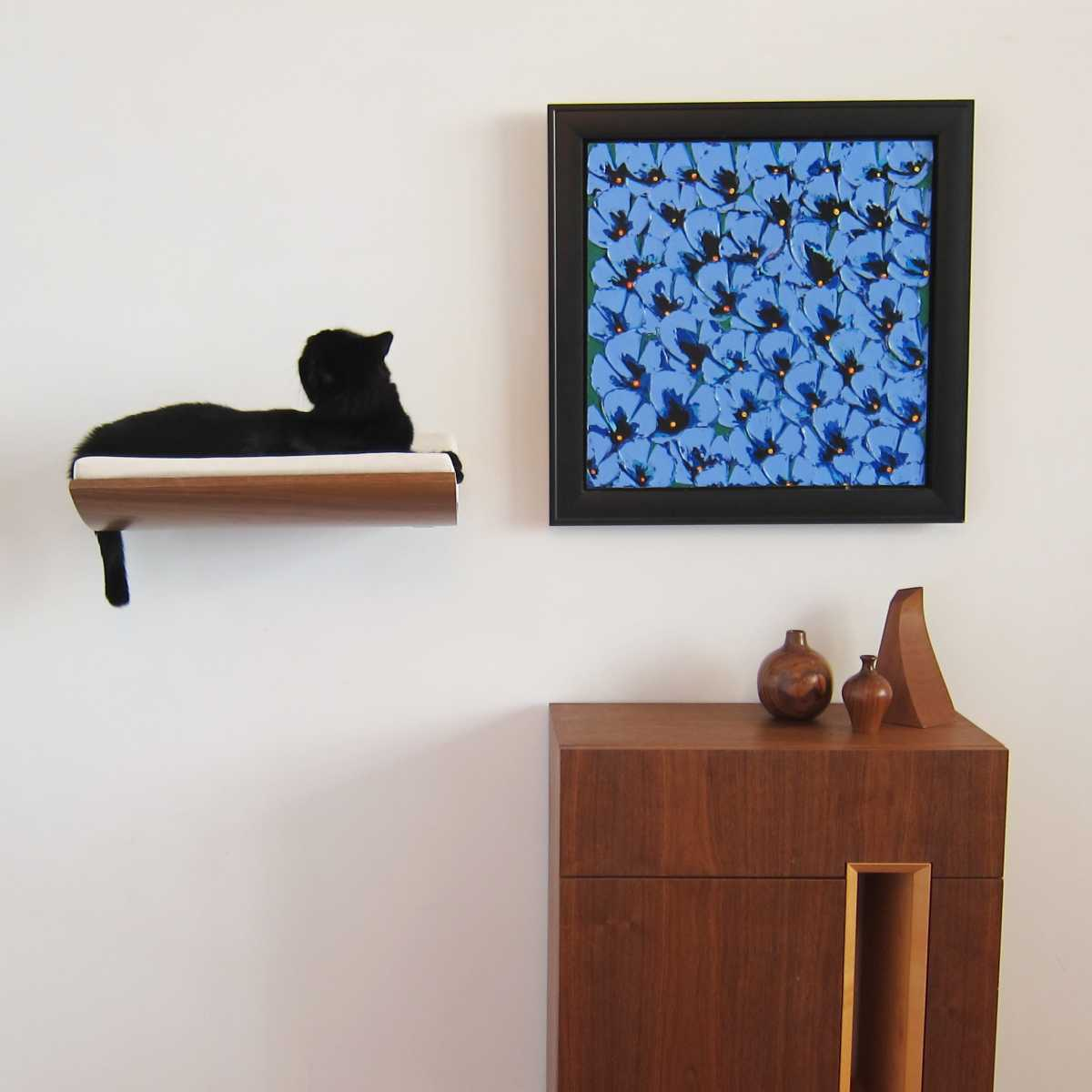Curve Wall Cat Bed Walnutcream Catsplay Superstore