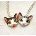 Custom Cat Portrait Necklace - More than One Cat