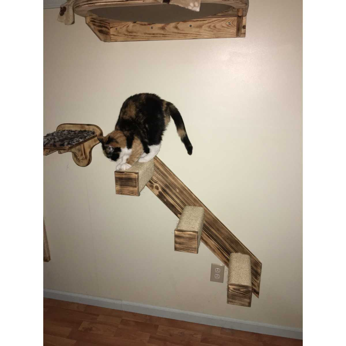 Ordinaire 3 Step Sisal Stair Wall Mounted Cat Climber