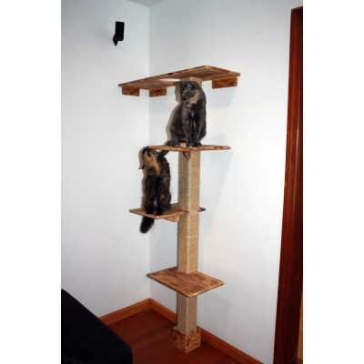 Deluxe Floor and Wall Kitty Cat Climbing Structure Image