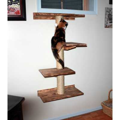 Floating Cat Wall Tree House Image