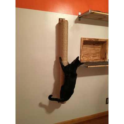 Sisal Wall Mounted Cat Scratcher & Climber Pole Image