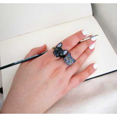 Custom Cat Portrait Ring