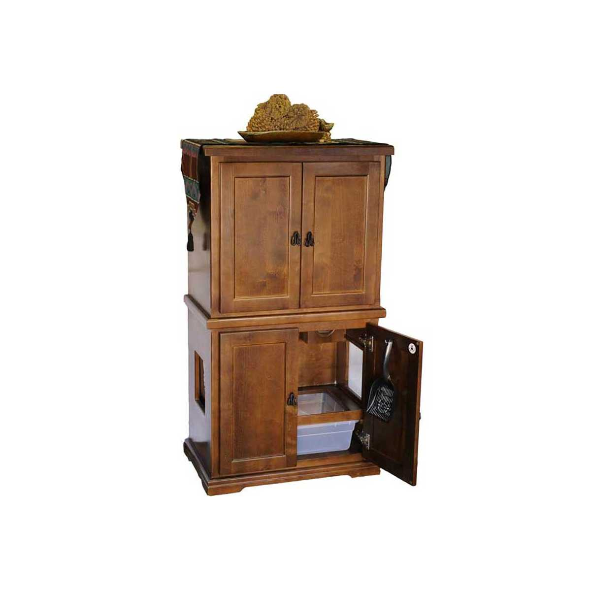 Furniture: Style F1E 2 Door Cat Litter Furniture With Storage