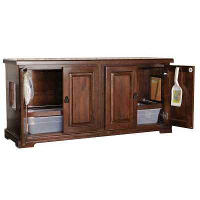 Style F2T Tall Double Cat Pan Litterbox Cabinet Image