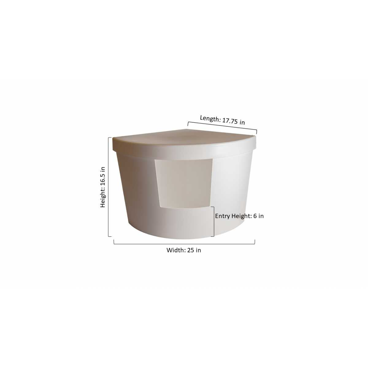 Decorative Litter Box: Decorative Corner Kitty Litter Box