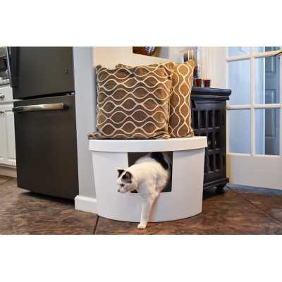 Decorative Corner Kitty Litter Box
