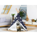 Cat TeePee - Blue with White Stars