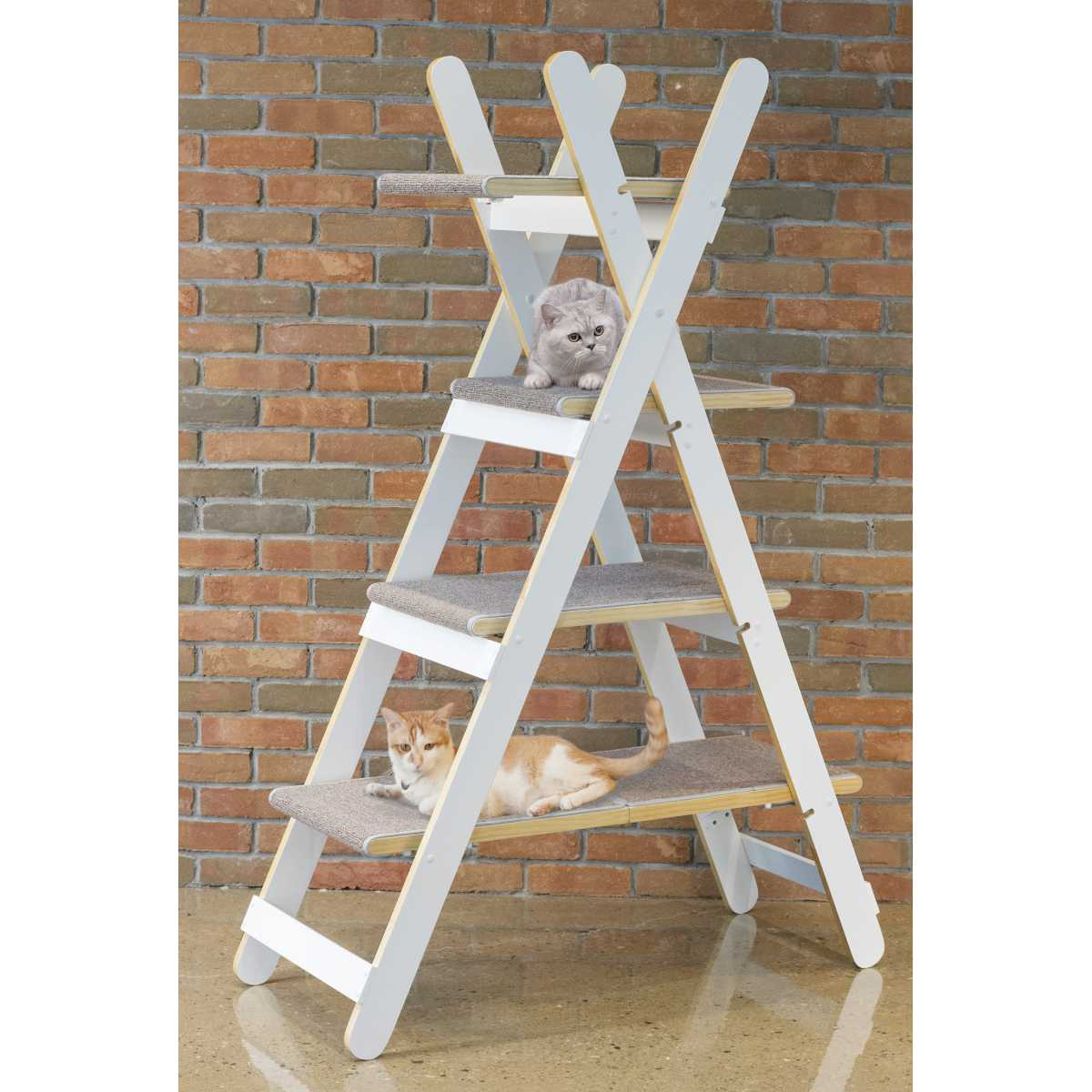 Triangle Ladder Step Modern Folding Cat Tree With