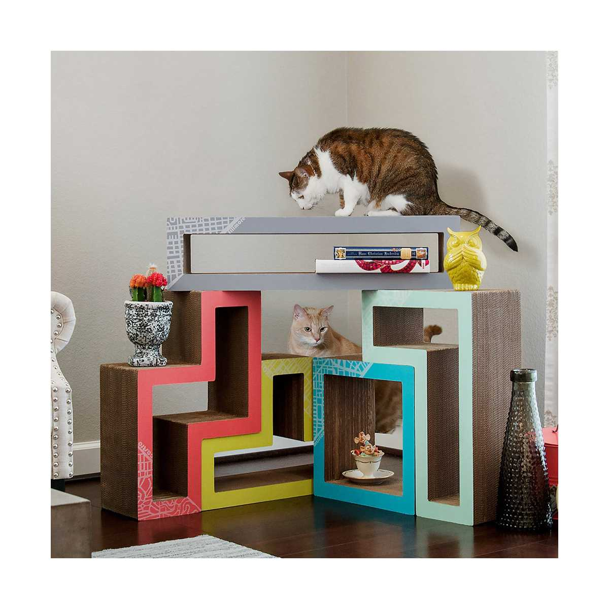 Colorful Modular Cat Tree Furniture for Living Room