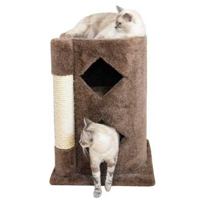 Cat's Choice 2-Story Solid Wood Cat Cavern