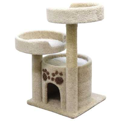 Cat's Choice Double Perch Solid Wood Cat Condo