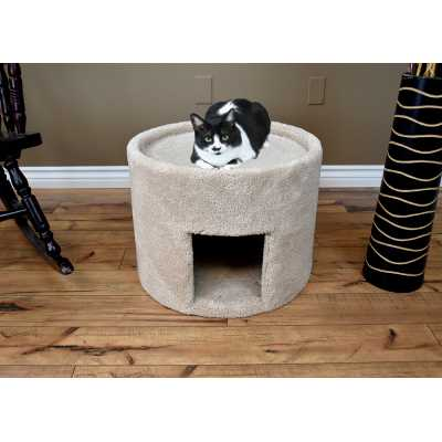Cat's Choice Extra Large Carpeted Cat Bed and House