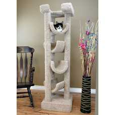 Cat's Choice Solid Wood 6 Foot Skyscraper Cat Tree