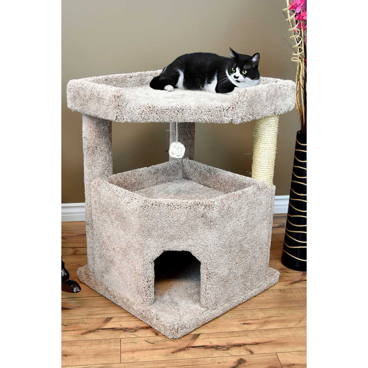 Cat S Choice Extra Large Corner Condo Palace With Loft 130051 Catsplay Superstore