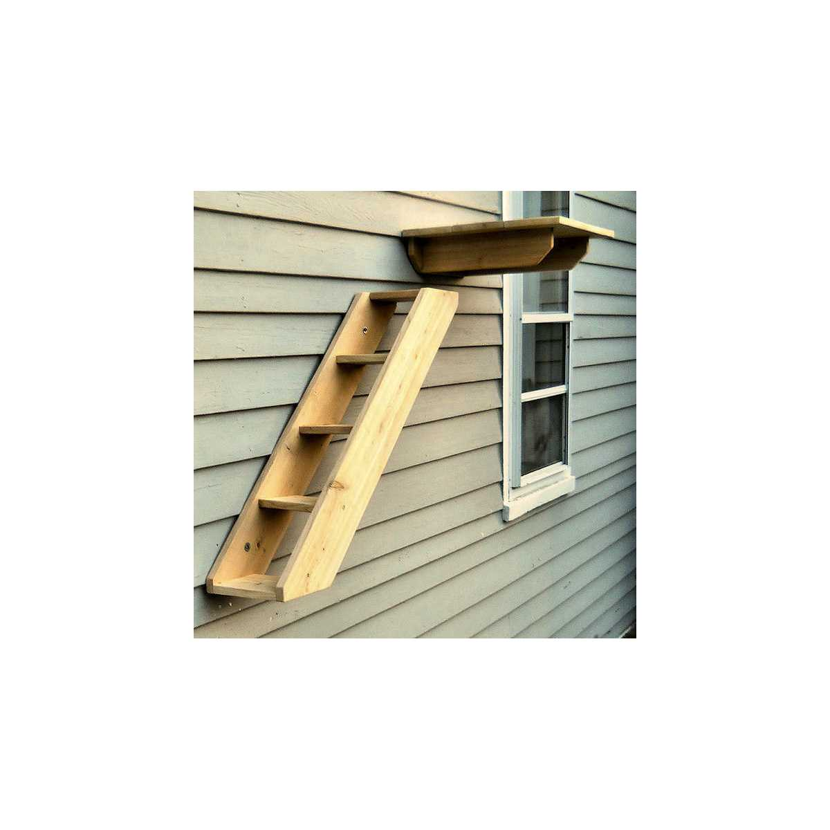 Delicieux ... Outdoor Cedar Cat Wall System: Stair / Ladder ...