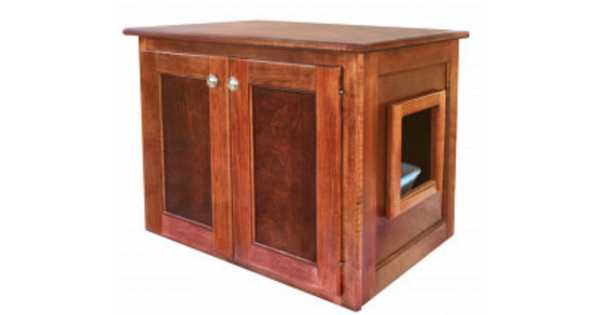 Amish Made Cat Litter Box Cabinet