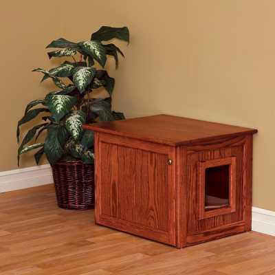 Amish Made Cat Litter Box Cabinet (Medium)