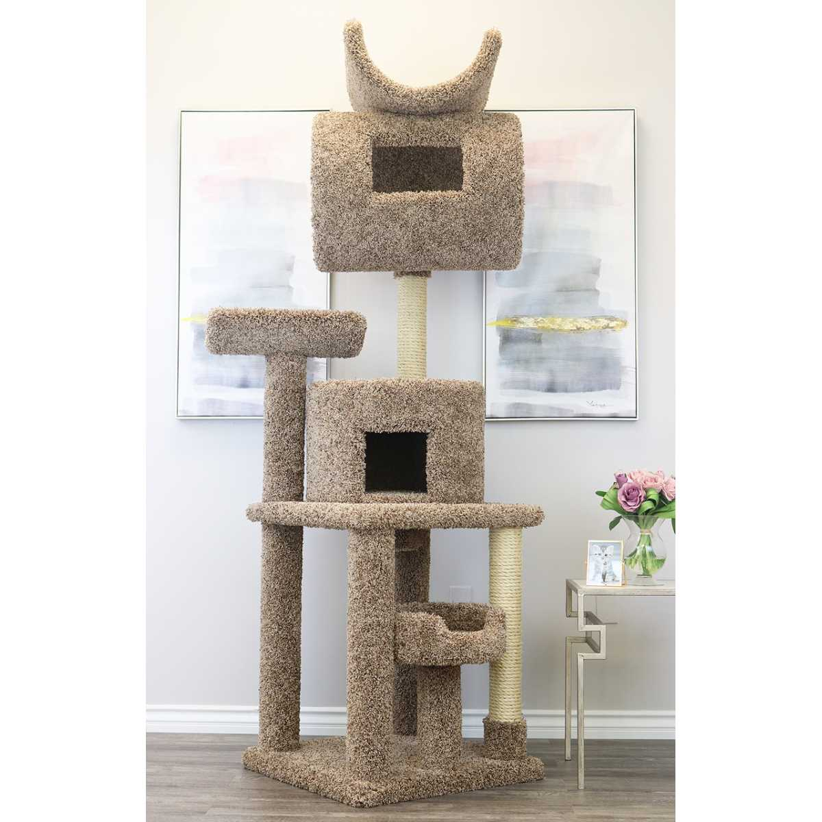 Cat's Choice 7 Foot Tall Carpeted Cat Tower