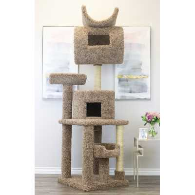 Cat's Choice 7 Foot Tall Carpeted Cat Tower**