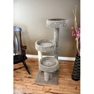 Cat's Choice Carpeted Solid Wood Cat Tree Tower
