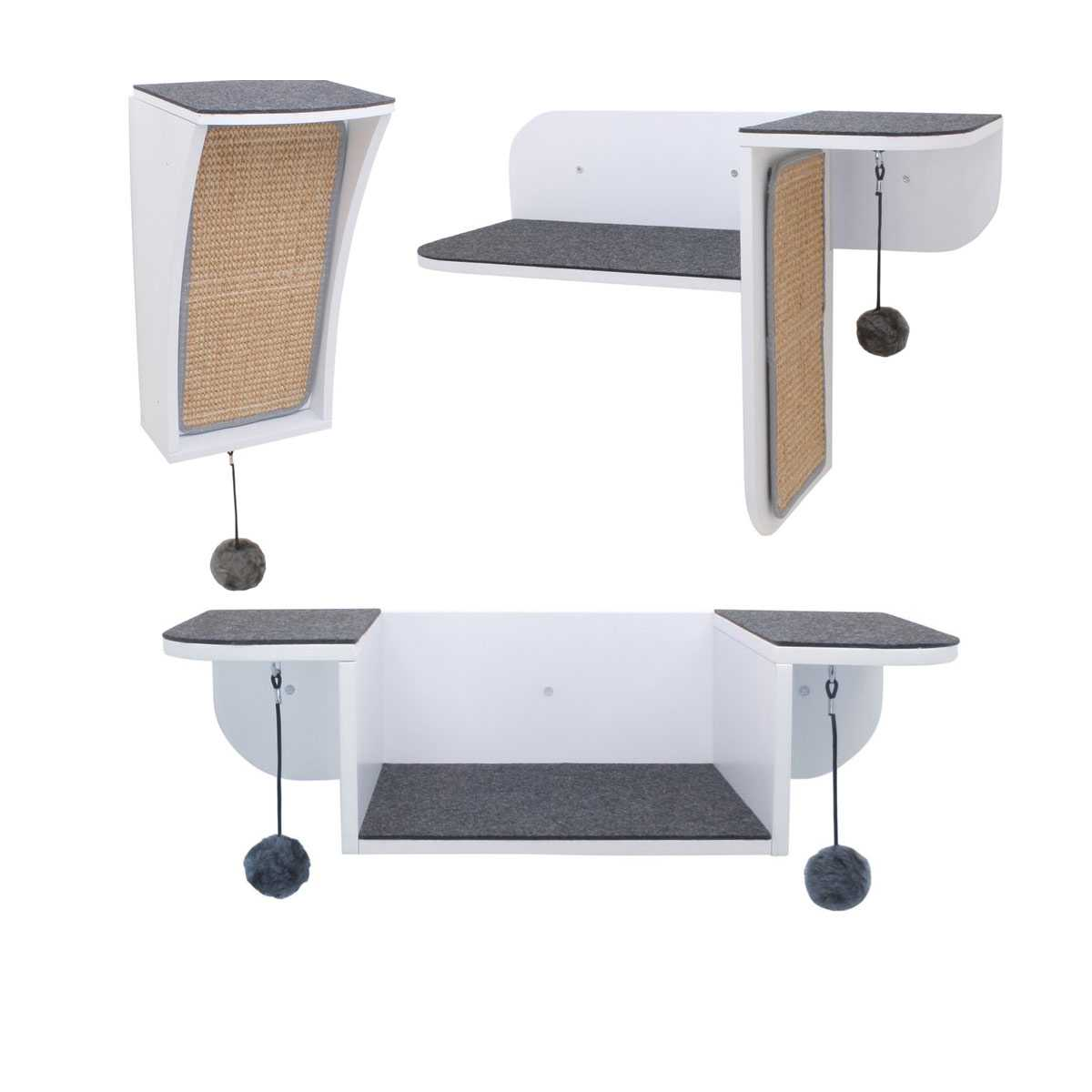 c3ee6c551c0f Modern Cat Wall System 3 Piece Combo Kit - CatsPlay Superstore