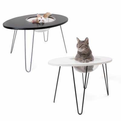 NestEgg Raised Cat Bed & Side Table  Image