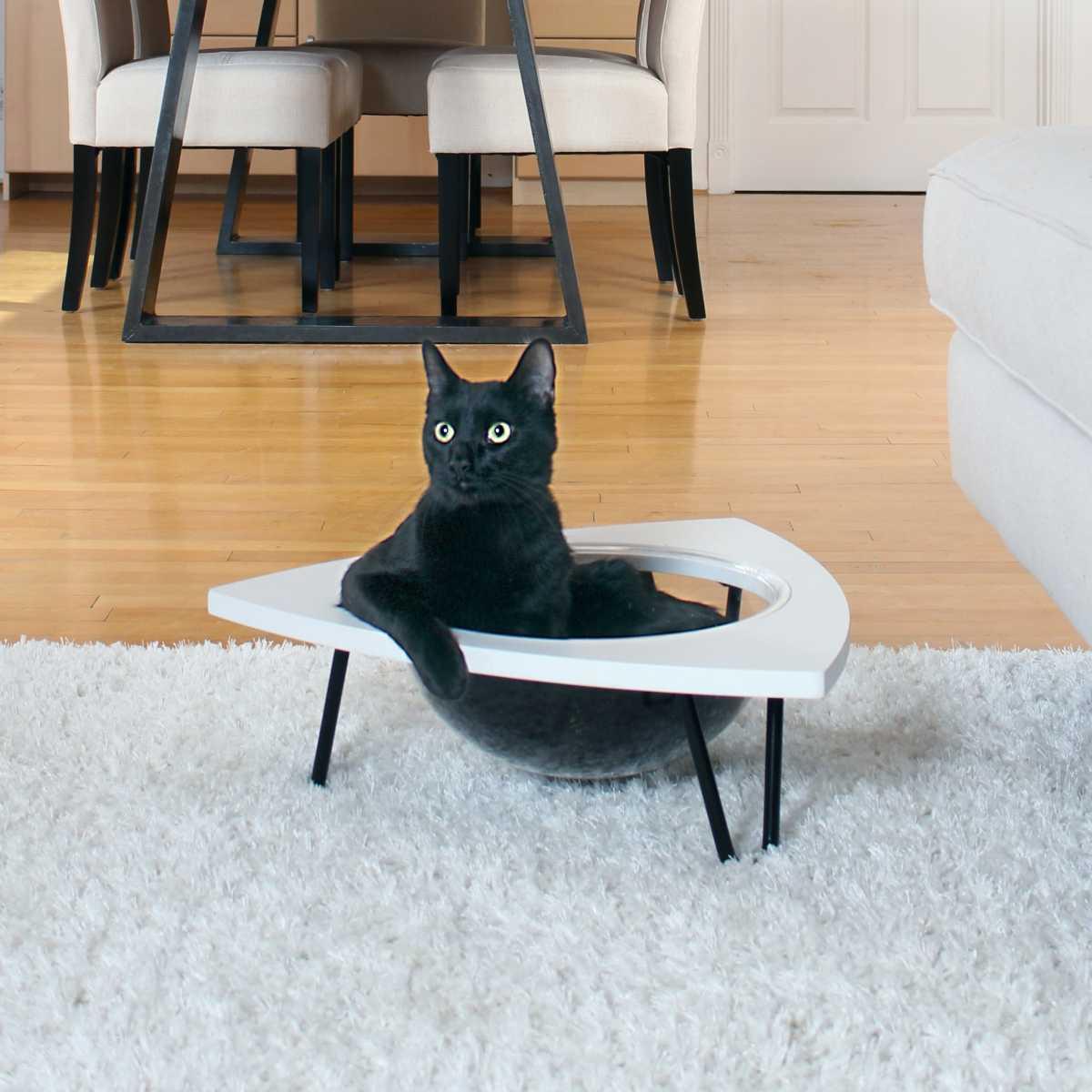 Cool Tripod Cat Lounge Bed Customarchery Wood Chair Design Ideas Customarcherynet