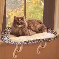 K&H Deluxe Kitty Sill Perch with Leopard Bolster KH9097