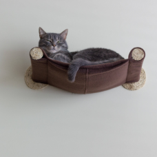Cat Hammock - Wall Mounted Cat Bed - Brown