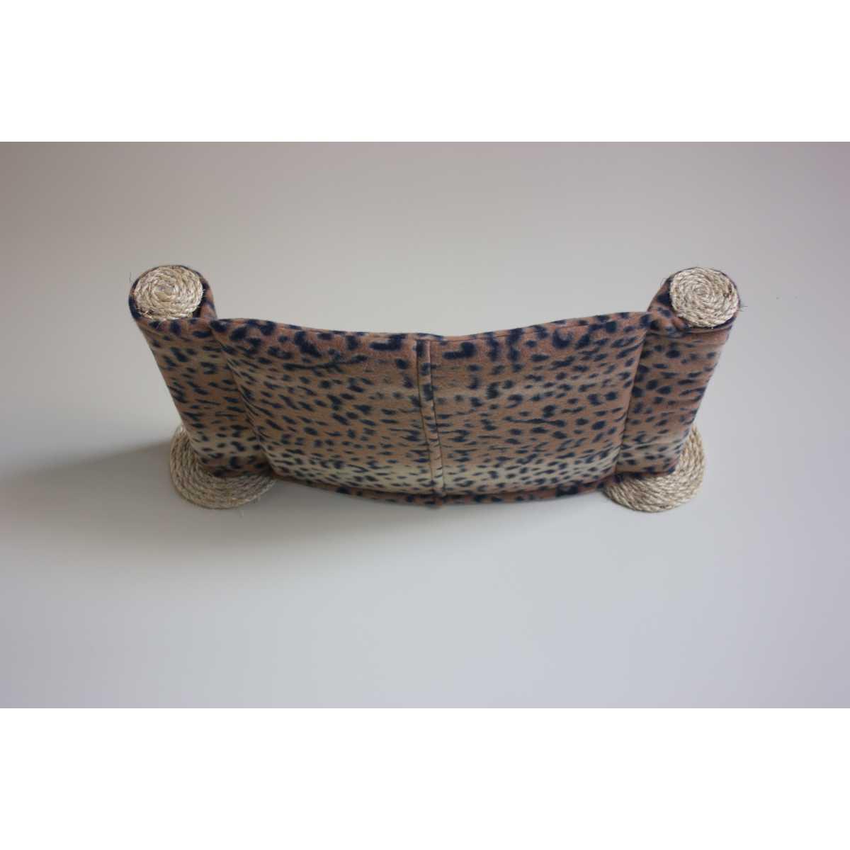 Cat Hammock Wall Mounted Cat Bed Dark Leopard