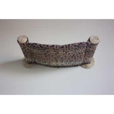 Cat Hammock - Wall Mounted Cat Bed - Dark Leopard Image