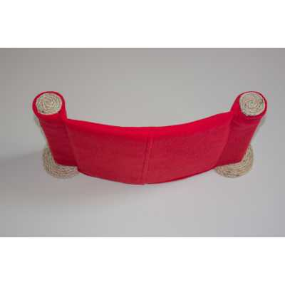 Cat Hammock - Wall Mounted Cat Bed - Red Image